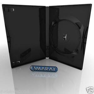 100-CUSTODIE-SINGOLE-NERE-DVD-14-MM-per-CD-DVD-R-per-verbatim-AMARAY-AMA02339KA