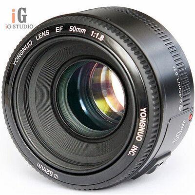 Yongnuo YN50mm F/1.8 AF/MF Standard Prime Lens for Canon EOS Rebel Camera