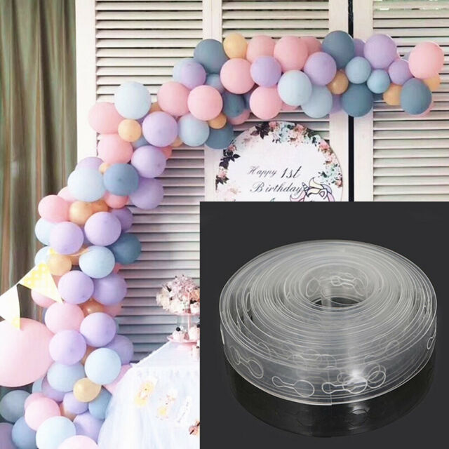 5M Plastic DIY Tape Balloon Strip Arch Connect Chain Party Supplies Decoration