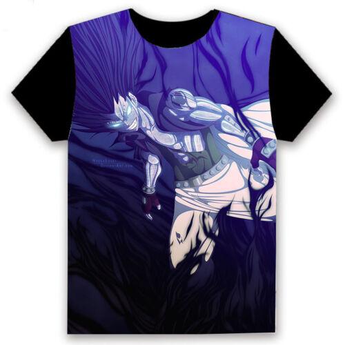 Anime Fairy Tail Natsu//Lucy//Gajeel Unisex T-shirt HD Printing Cosplay Tee#UR-12