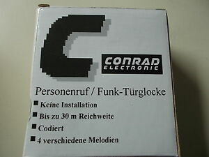 Conrad Funk Sonnette Abonnés D'appel D'urgence Funkgong Sonnerie, 30 M, #k-14-5-afficher Le Titre D'origine Design Moderne