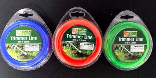 8M X 2-3MM TRIMMER LINE-WHIPPER SNIPPER CORD WIRE BRUSH CUTTER BRUSHCUTTER NYLON