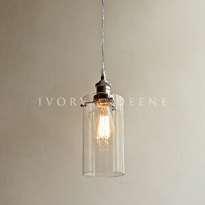 Allira glass pendant filament light chrome fittings industrial image is loading allira glass pendant filament light chrome fittings industrial mozeypictures Image collections
