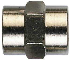 Bsp-Hembra-a-Igual-Cojinete-Adaptadores-Conectar-Enchufe-Laton-Niquel