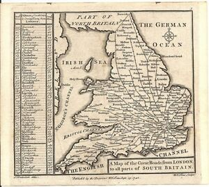 Antique-map-Great-Roads-from-London-to-all-parts-of-south-Britain