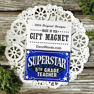 SUPERSTAR-5th-Grade-Teacher-Magnet-Appreciation-School-Teach-New-DecoWords-USA