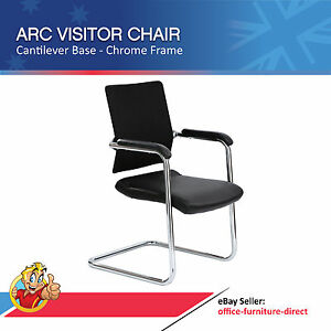 arc visitor chair cantilever base chrome frame with arms waiting