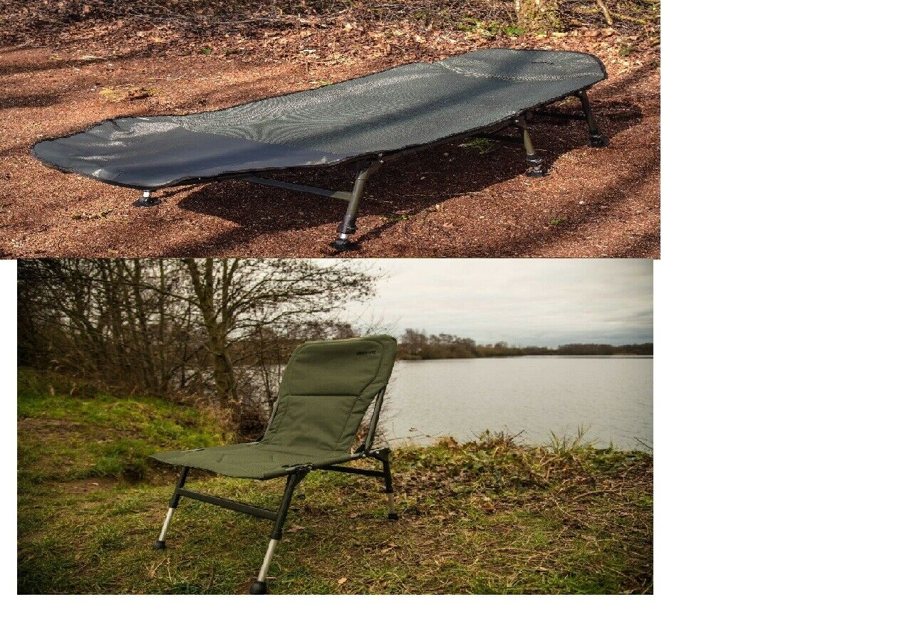 Portable Camping Bed & Chair Combo, Camping Fishing Caravan, Compact RRP .99