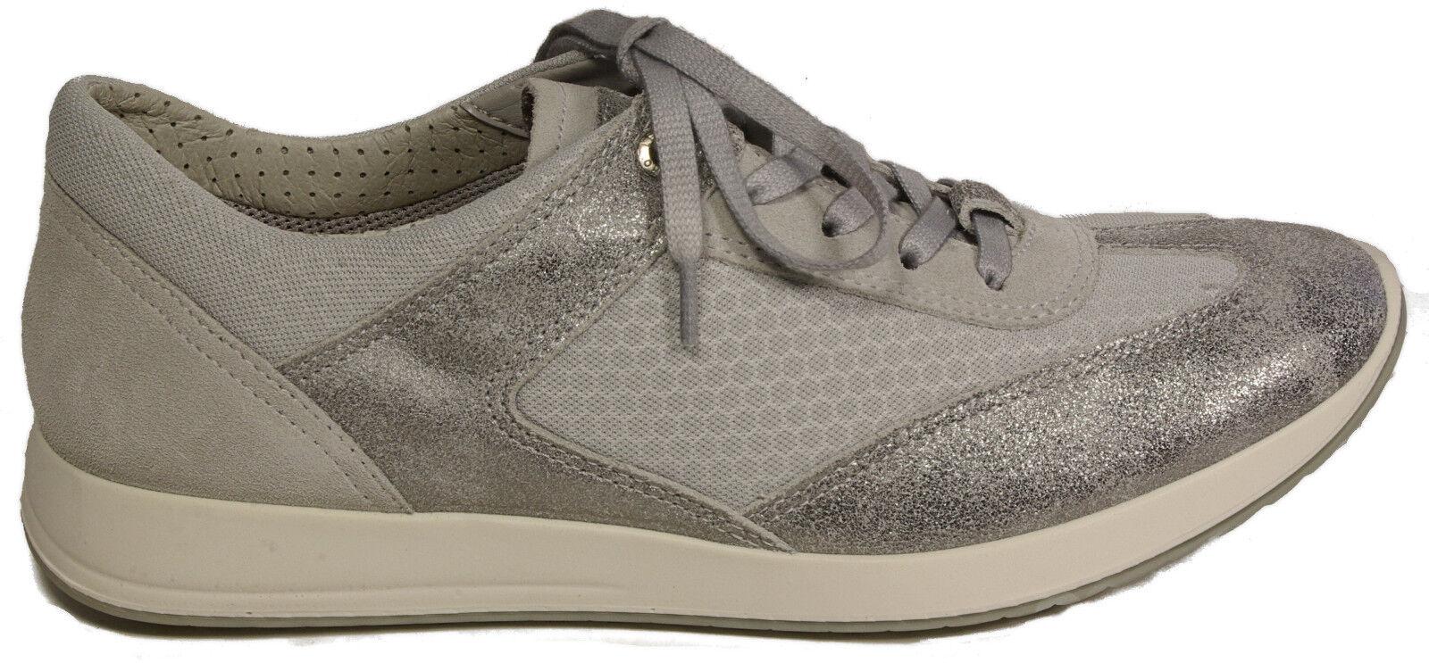 LEGERO Schuhe Sneaker Halbschuhe silber metallic Leder Wechselfußbett NEU NEU Wechselfußbett ee6641