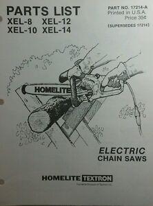 Homelite Xel 12 Chainsaw manual