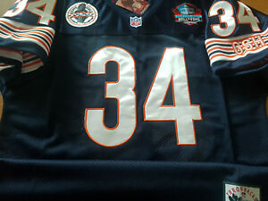 a387e3b21 BRAND NEW Chicago Bears  34 Walter Payton Throwback Blue Dual Patch ...
