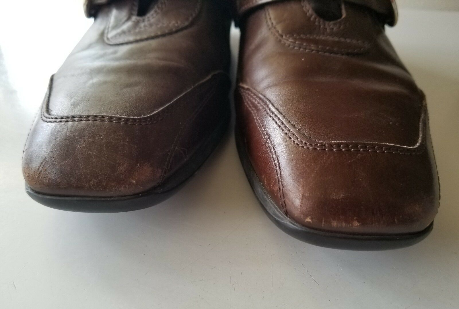 TOD'S Brown Leather LOAFERS COMFORT WALKING SHOE SHOE SHOE MADE IN ITALY 38.5 EUR f692ee