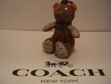 Coach NY & Keith Haring Leather Heart Bear Bag Charm/key Ring 20138