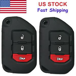 2X Rubber Key Case Fob Cover Jacket For 2018 2019 2020 ...