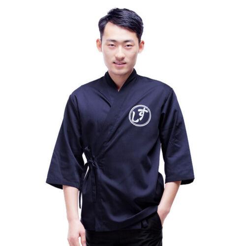 Newest Sushi Chef Coat Japanese Kimono Uniform Unisex Bakery Serving Clothing