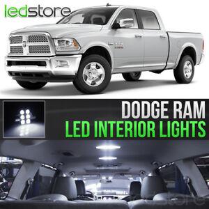 2009 2018 Dodge Ram 1500 2500 3500 White Interior Led Lights Kit Package Ebay