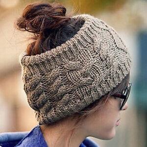 Frauen Stricken Stirnband Twist Turban Breite Warm Häkeln Haarband