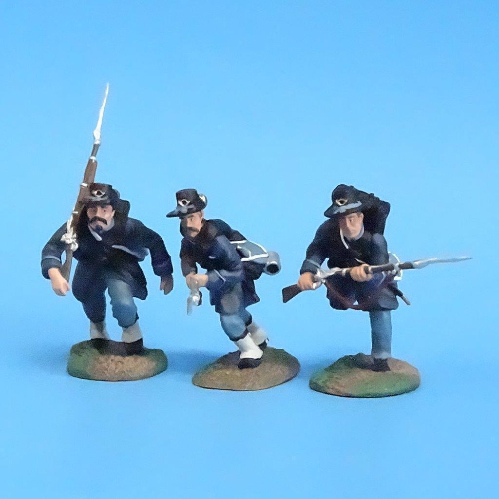 CORD-133 - Iron Brigade Advancing (3 Figures) - ACW - Britains - 54mm Metal