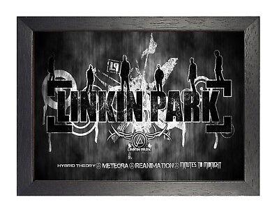 Linkin Park 10 American Rock Metal Band Poster Music Legend Photo Black White