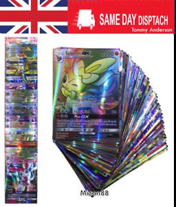 Pokemon-TCG-100-FLASH-CARD-LOT-RARE-20-GX-80-EX-CARDS-NO-REPEAT-UK-SELLER