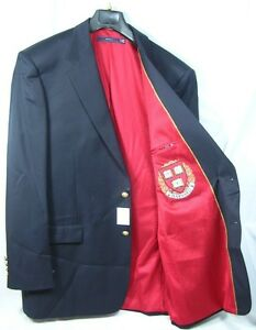 Tall Regular Harvard University Team Blazer Licensed Logo Sport Coat Short