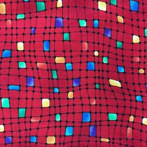 Colorful-Abstract-Design-Fabric-Moda-Quilting-Sewing-Crafts-18-x-44-034