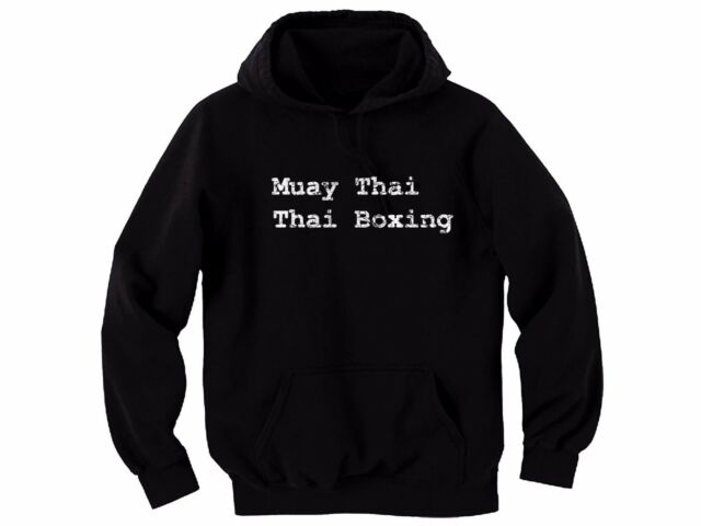 Men/'s Muay Thai Elephant Raglan Hoodie sweater MMA Fighting Thailand Kickboxing