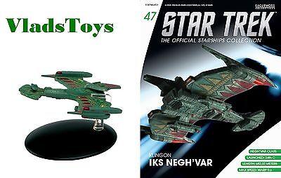 Eaglemoss Diecast Star Trek Klingon Empire, Negh'Var-class Warship #47  w/Mag