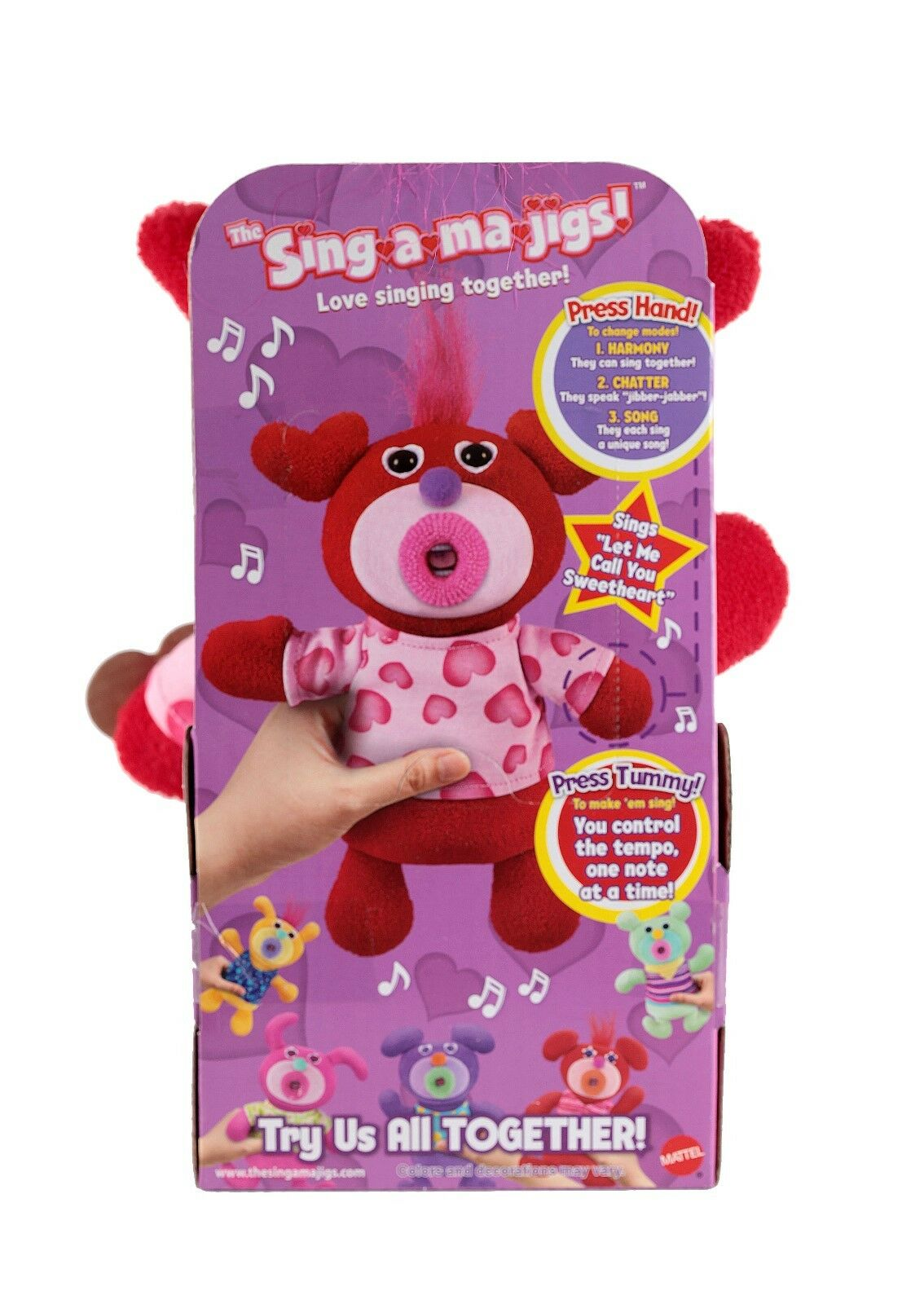 NEW Mattel ROT Valentine Hearts Let Sing A Ma Jig - Let Hearts Me Call You Sweetheart Song 2ffa7a