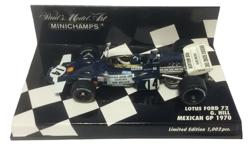 Minichamps Lotus Ford 72 Mexican GP 1970 - Graham Hill 1 43 Scale