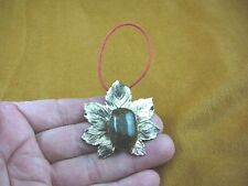 Real MOOSE POOP doo nugget ornate flower bow PENDANT Christmas ORNAMENT PP4-16