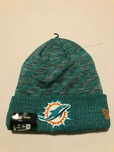 76d145bb1 New Era Miami Dolphins Aqua 2018 NFL Sideline Cold Weather Official ...