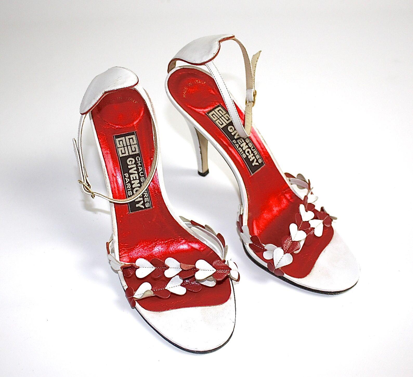 GIVENCHY  magique escarpins bride Escarpins US 7 1 2 D 38,5 M rouge blanc super