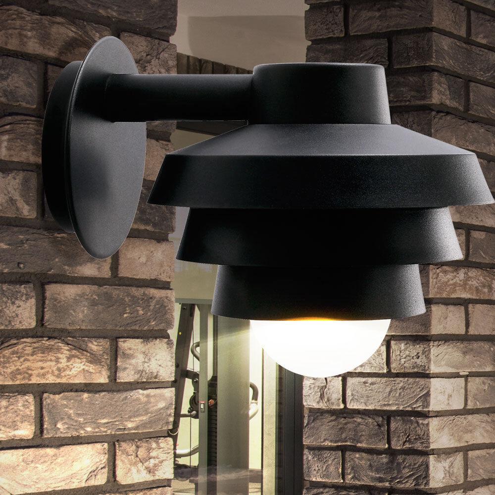 Fachadas Luz Exterior Iluminación de Parojo Luz de Porche Down Foco Negro