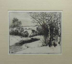 Charles-Dahlgreen-034-In-the-Hill-034-Original-Landscape-Etching-Signed-Illinois-Artis
