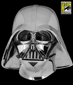 SDCC 2017 40th Anniversary Commemorative Darth Vader Chrome Plated Helmet EFX