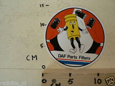 STICKER,DECAL DAF PARTS FILTERS LARGE