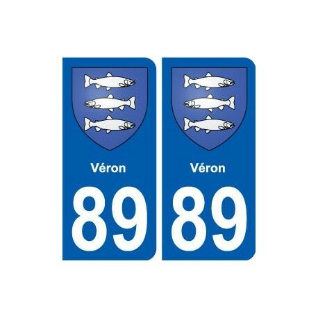 89 Véron blason autocollant plaque stickers ville droits