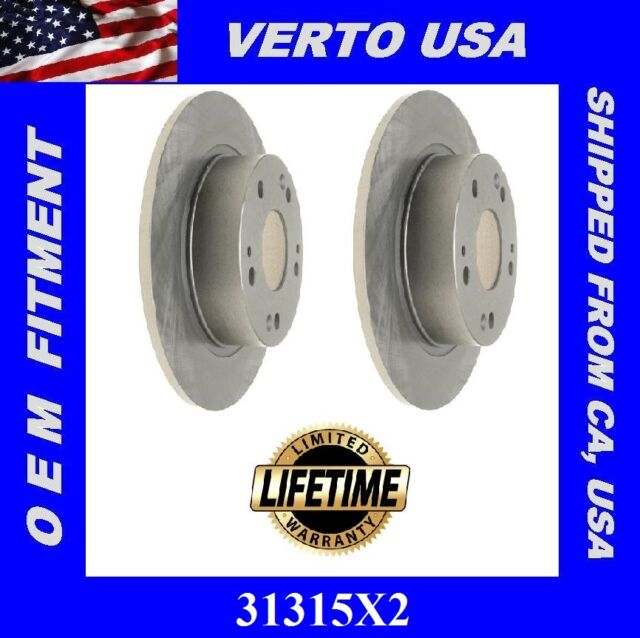 Rear Brake Rotors For Acura Tsx 2004-2005-2006-2007-2008