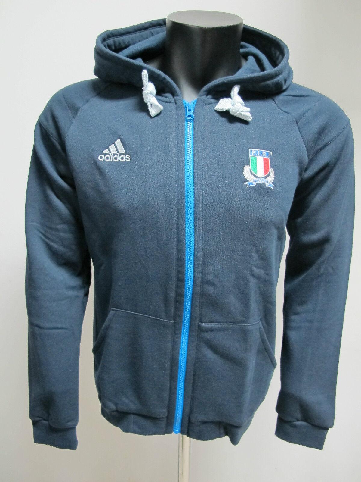 Adidas Herren-schweißhemd mit Kapuze Zip Mod.w68885 Farbe Blau GR.S Winter 2012