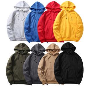 Men-Fall-Loose-Fit-Fleece-Long-Sleeve-Hoodie-Top-Hooded-Sweatshirt-Jumpers-Coats