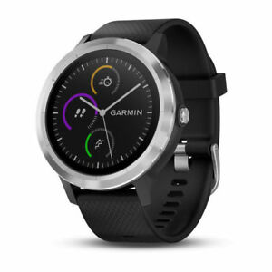 NEW-Garmin-VivoActive-3-Smartwatch-Black-Stainless-Steel-FREE-SHIPPING