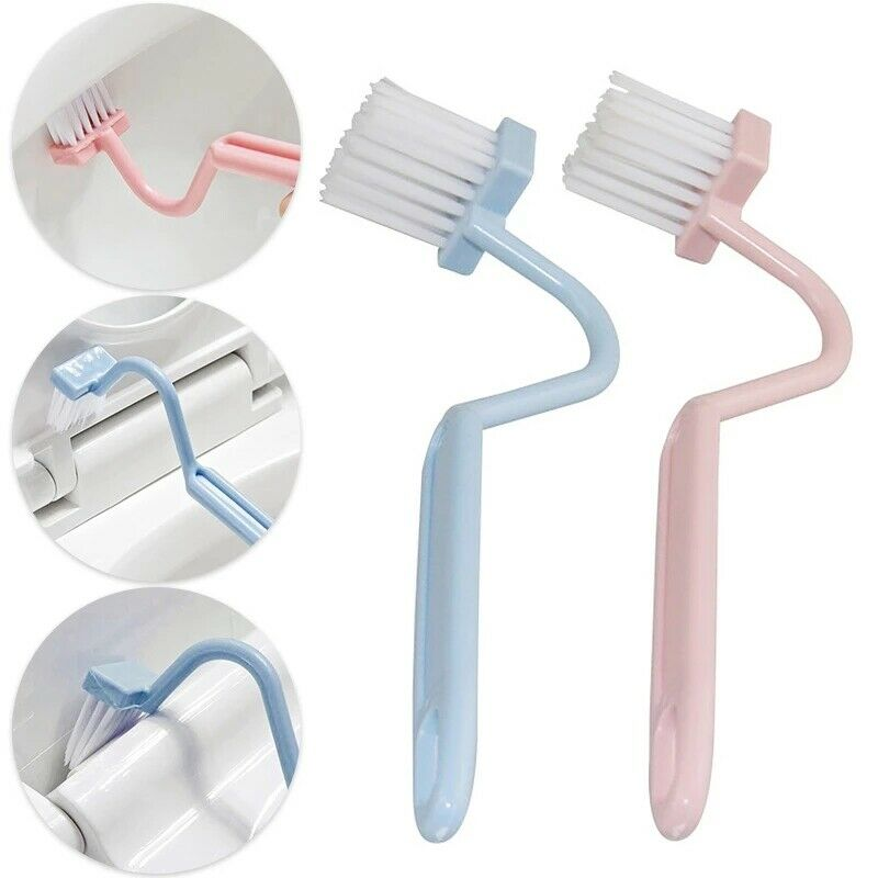 2Pcs plastic S Type Soft Cleaning Brush Toilet brush Corner Bending type