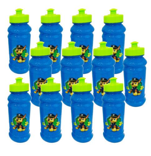 12pcs Paw Patrol Blue Pull Top 16oz Plastic Sport Water Bottle Party Favor