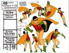 CHALLENGE Of The SUPER FRIENDS : ROBIN ACTION POSES MODEL SHEET Batman ALEX TOTH