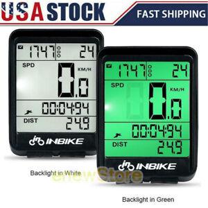 Bike Bicycle Waterproof Wireless Road Speedometer LCD Computer Odometer US Stock