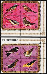 BURUNDI — SCOTT C135-C137 — 1970 BIRDS SETENANTS — MNH — SCV $70.50