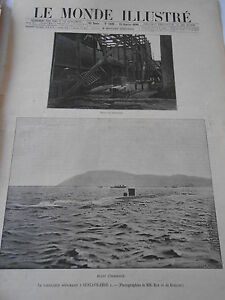 1899 Article De Presse Le Torpilleur Sous Marin Gustave Zédé