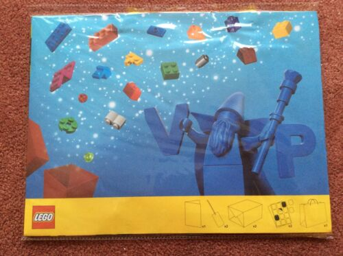 LEGO GIFT BAG WITH BOX AND STICKERS NEW//UNUSED