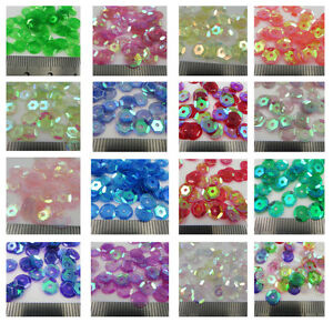 7mm-AB-ROUND-CUPPED-SEQUINS-TRANSLUCENT-20-COLOURS-CONFETTI-SEWING-CARD-CRAFTS